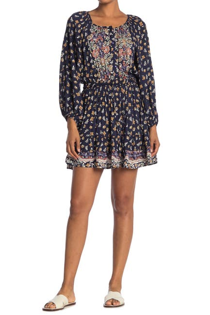 Image of Angie Long Sleeve Printed Dress