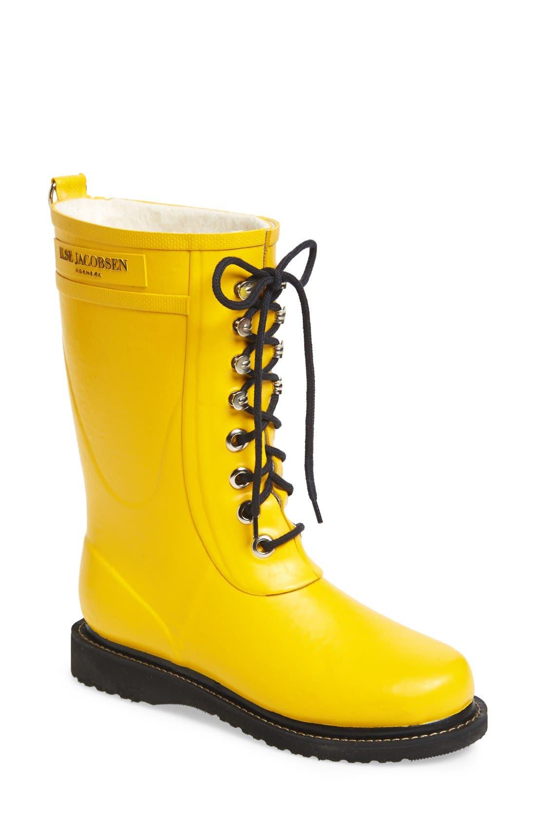 Ilse Jacobsen Rubber Waterproof Boot, Yellow