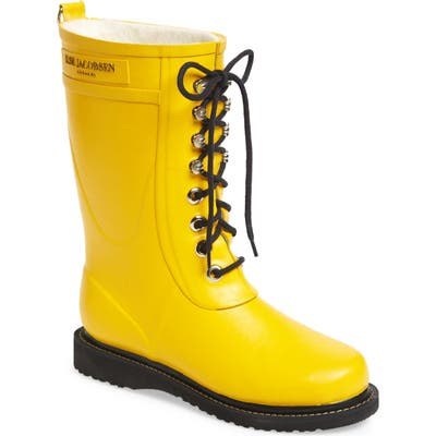 Ilse Jacobsen Rubber Waterproof Boot, Yellow