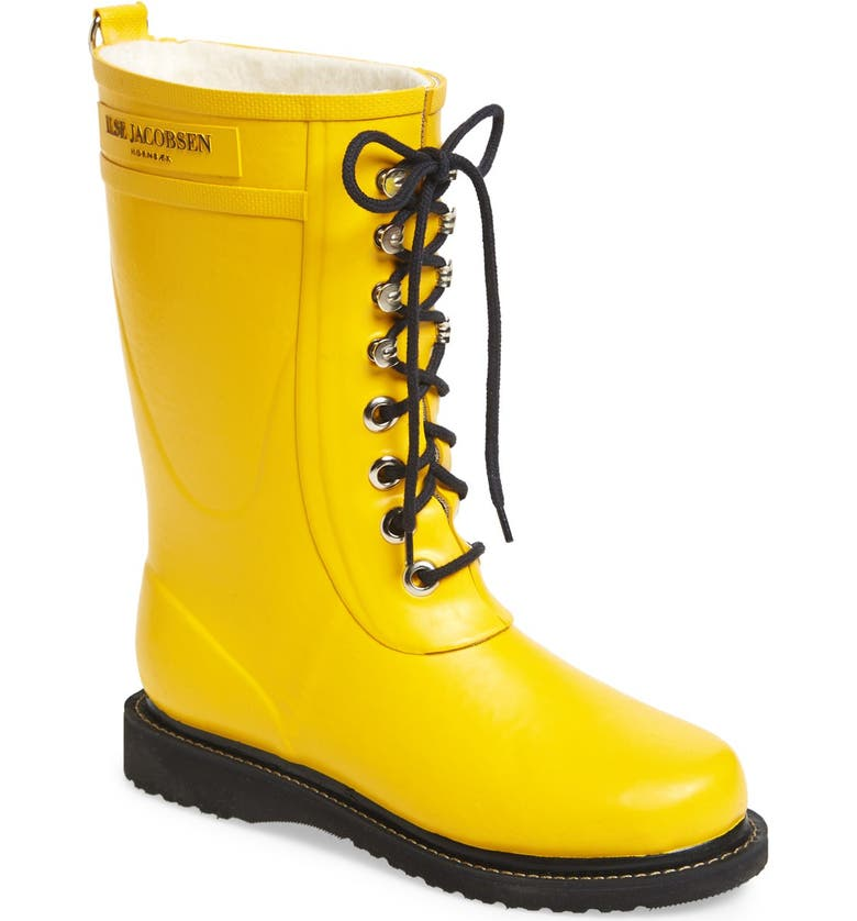 ILSE JACOBSEN Rubber Waterproof Boot, Main, color, CYBER YELLOW
