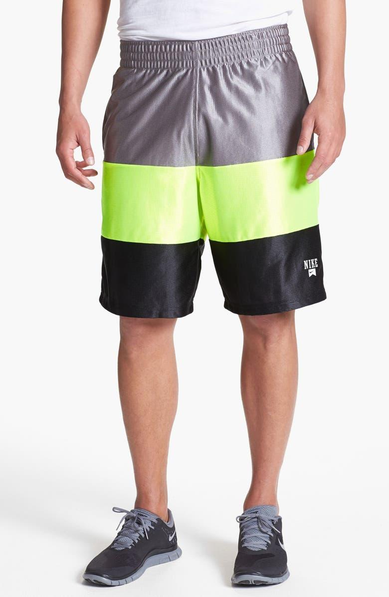 NIKE 'Baller' Mesh Athletic Shorts, Main, color, 060