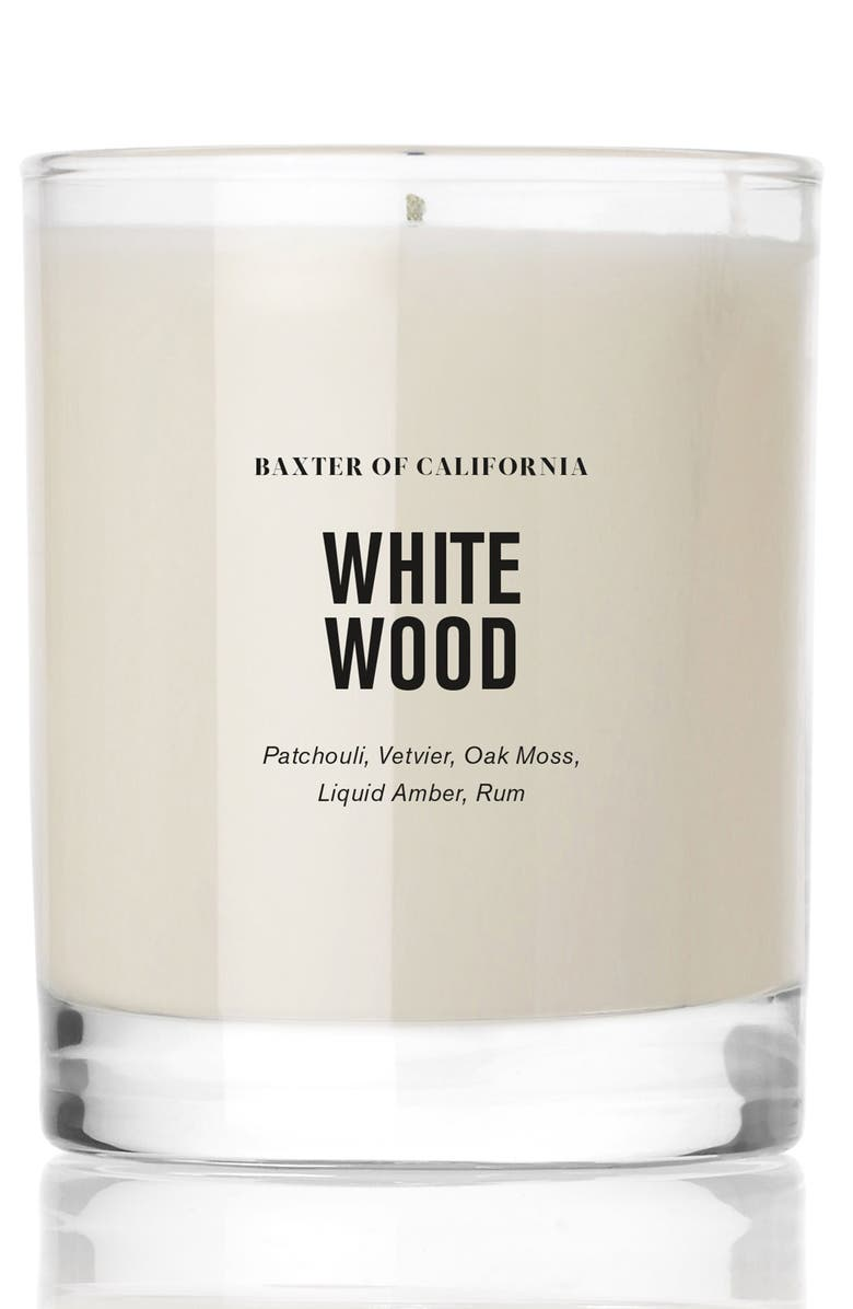 BAXTER OF CALIFORNIA White Wood Candle, Main, color, NO COLOR