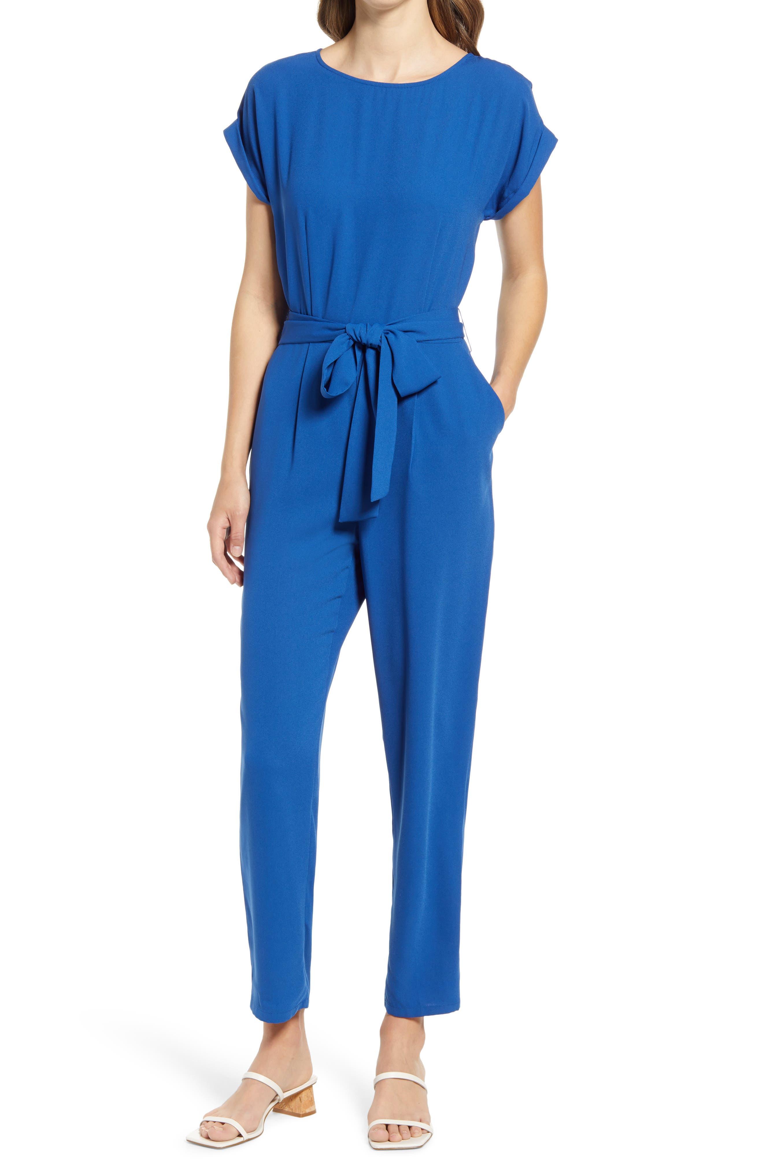 Women's Halogen Short Sleeve Jumpsuit