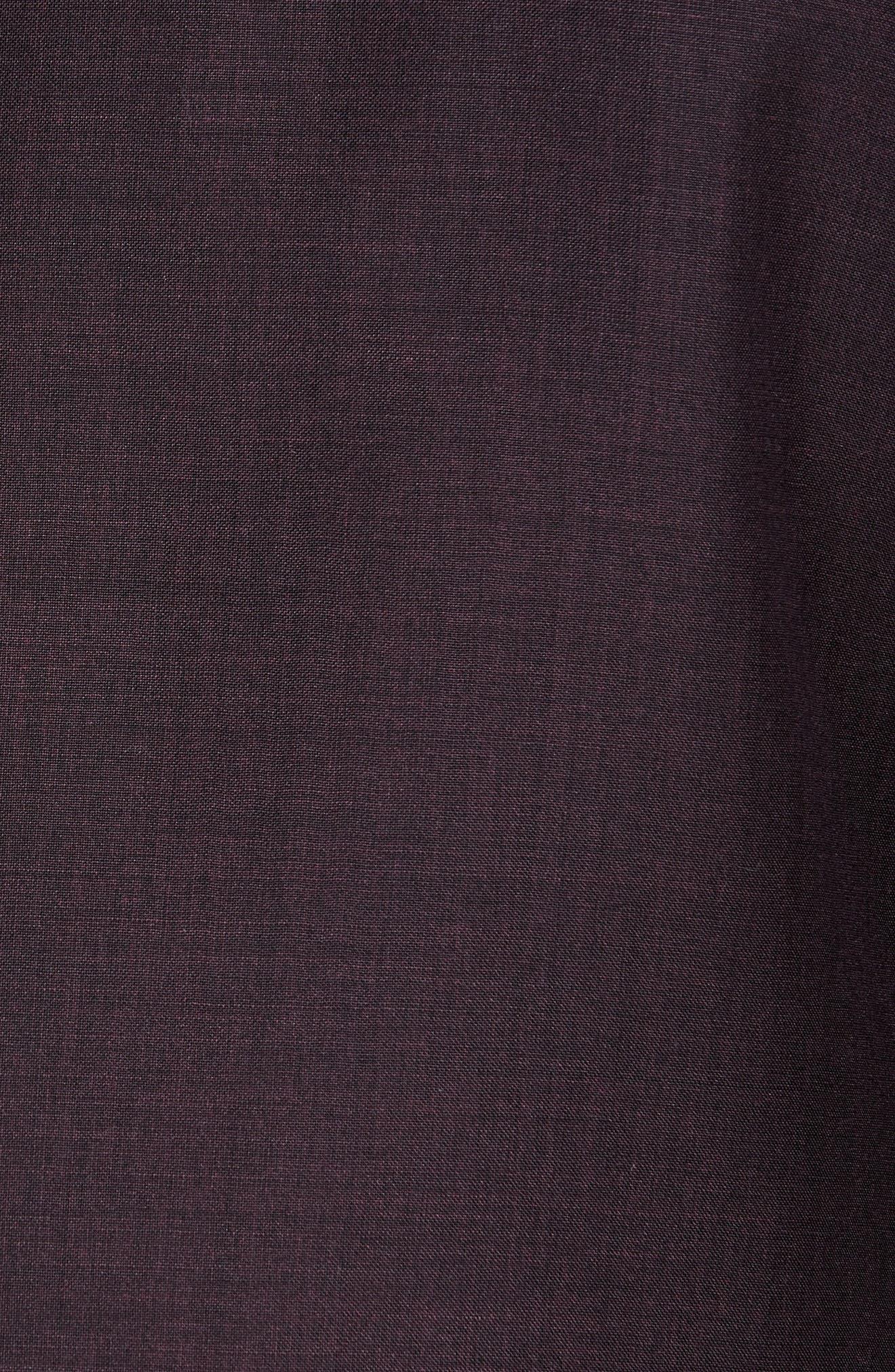 ,                             Balthazar Trim Fit Wool & Mohair Dinner Jacket,                             Alternate thumbnail 5, color,                             BURGUNDY