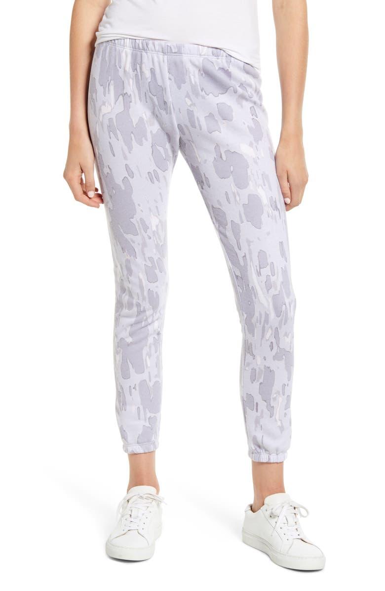 WILDFOX Rose Camo Knox Pants, Main, color, 500