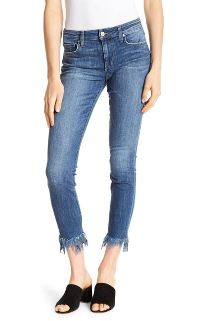 Image of Joe's Jeans Icon Crop Extreme Fray Jeans