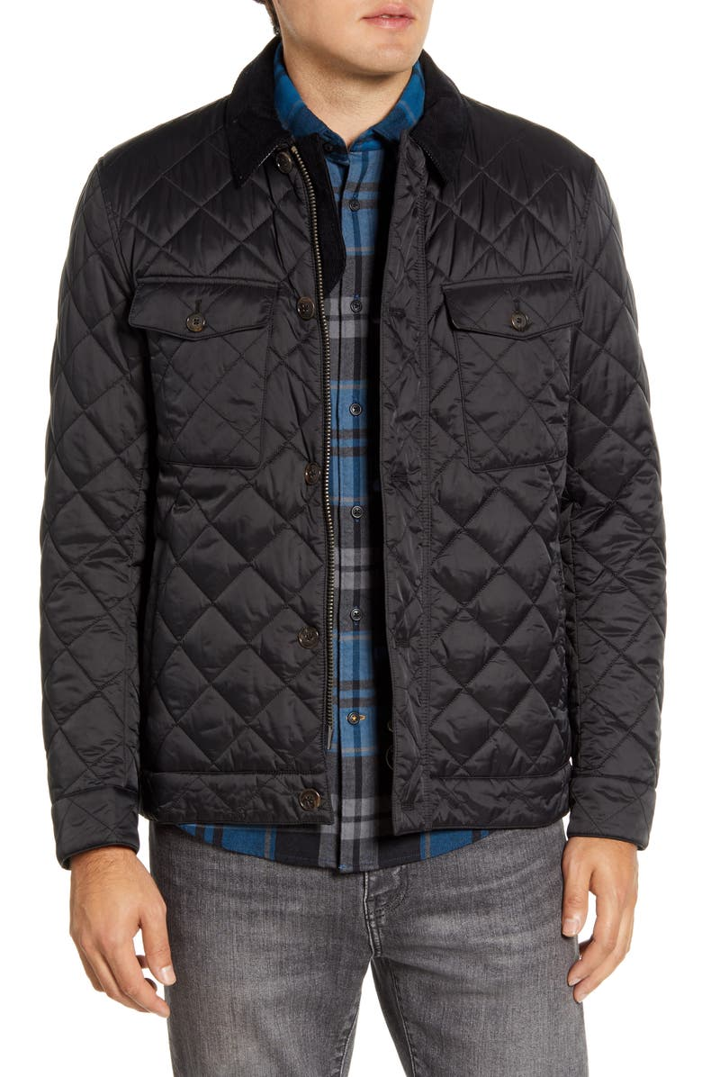 BARBOUR Maesbury Quilted Jacket, Main, color, BLACK