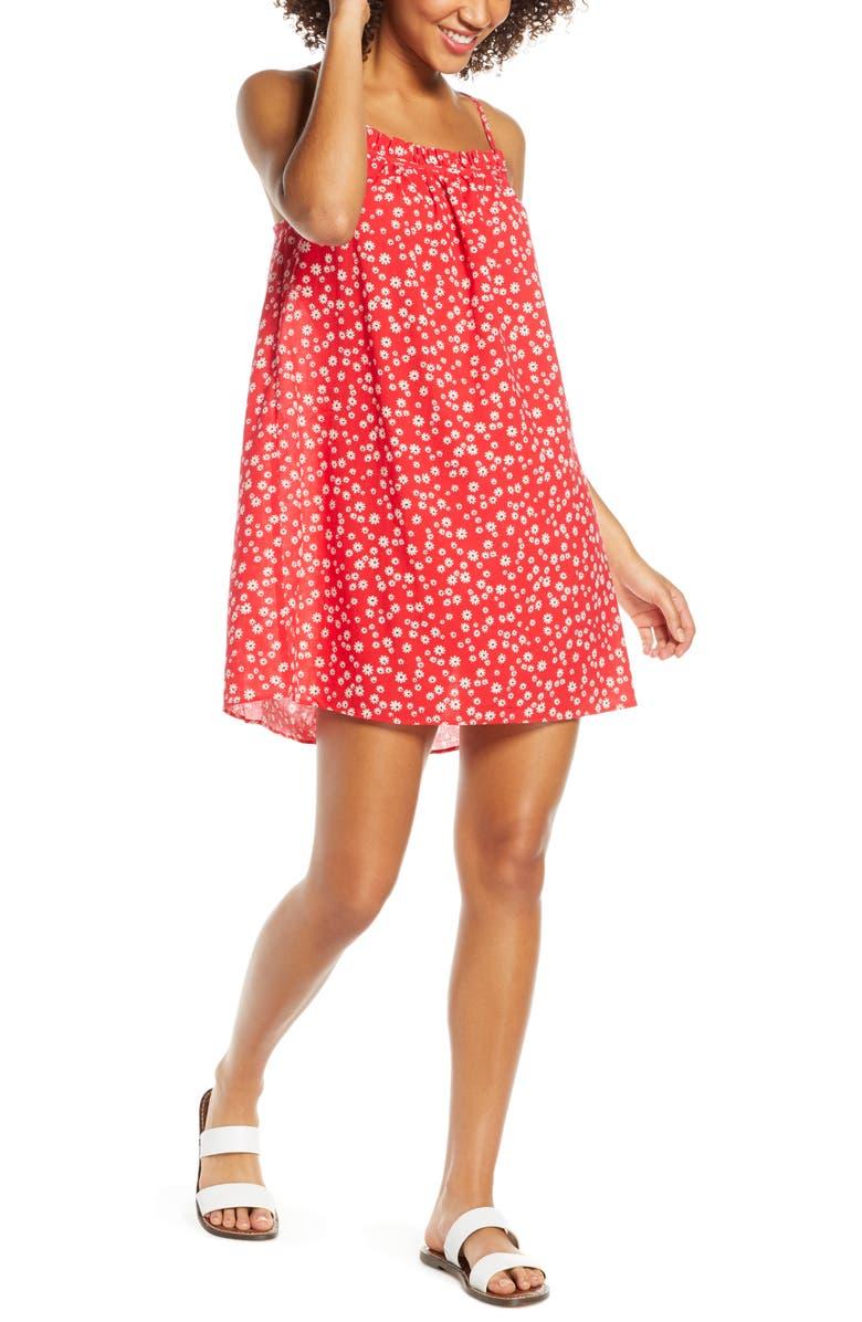 MADEWELL Daisy Field Ruffle Neck Cover-Up Minidress, Main, color, 600