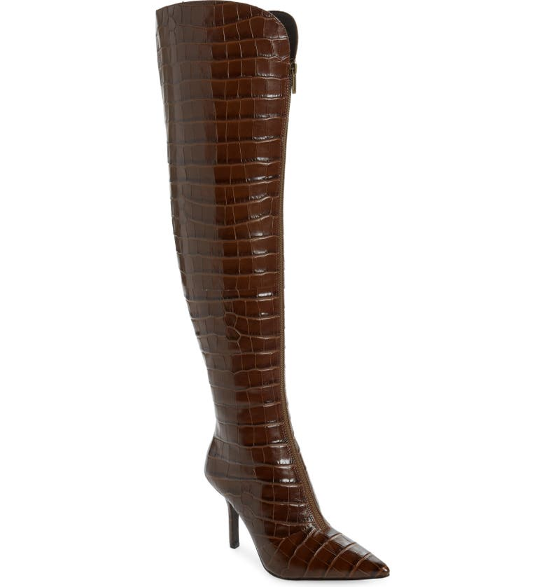 VINCE CAMUTO Naomina Over the Knee Boot, Main, color, CHOCOLATE BROWN