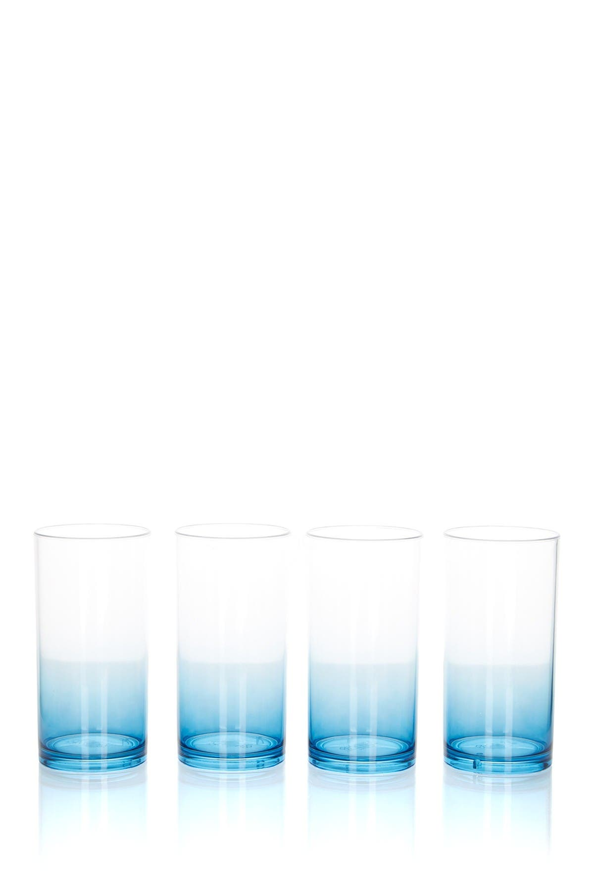 Image of Trina Turk Blue Hi Ball Glasses - Set of 4