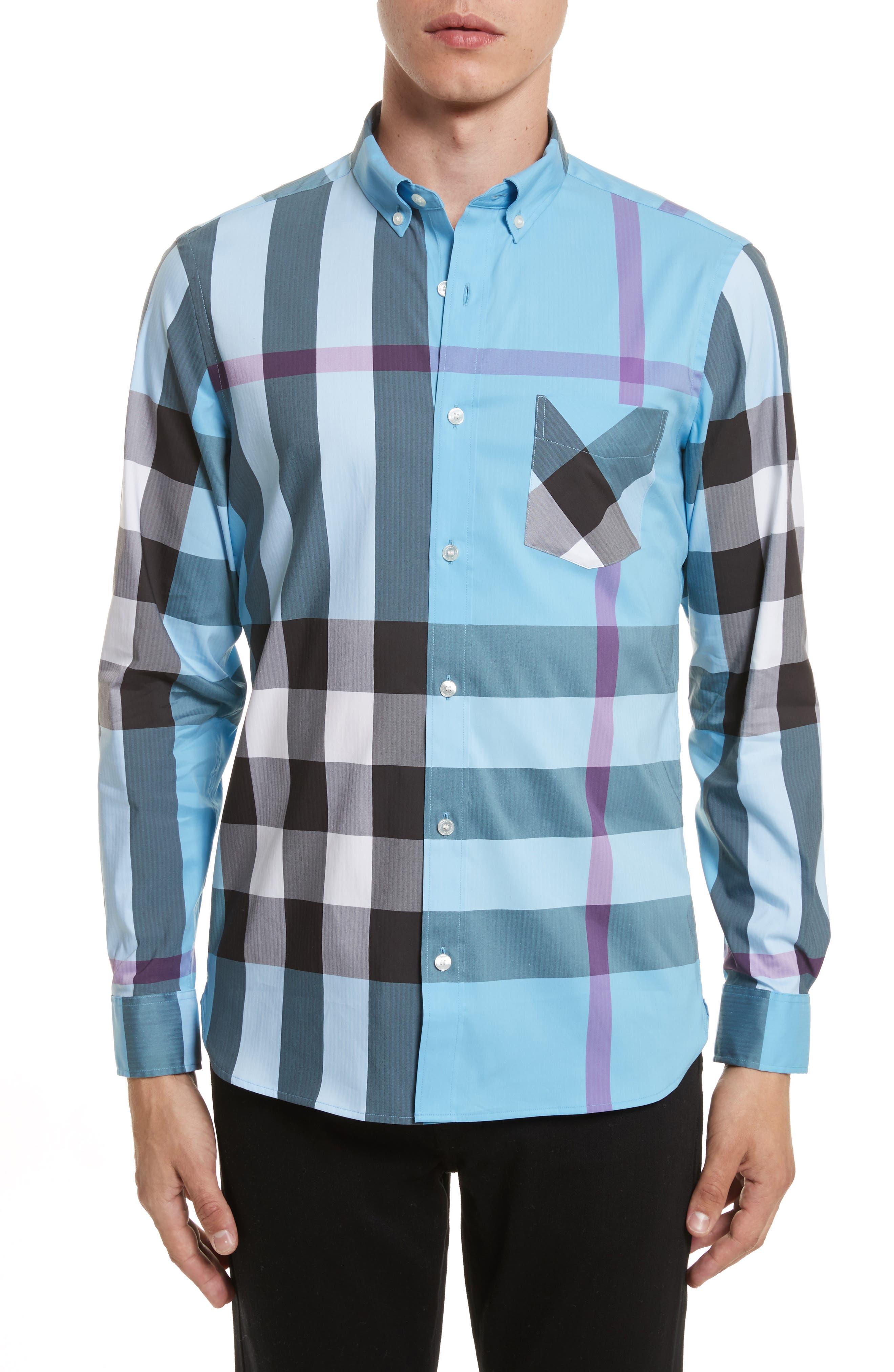 ,                             Thornaby Slim Fit Plaid Sport Shirt,                             Main thumbnail 29, color,                             439
