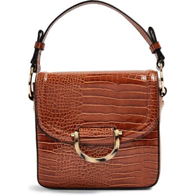 Topshop Carrie Croc Shoulder Bag -
