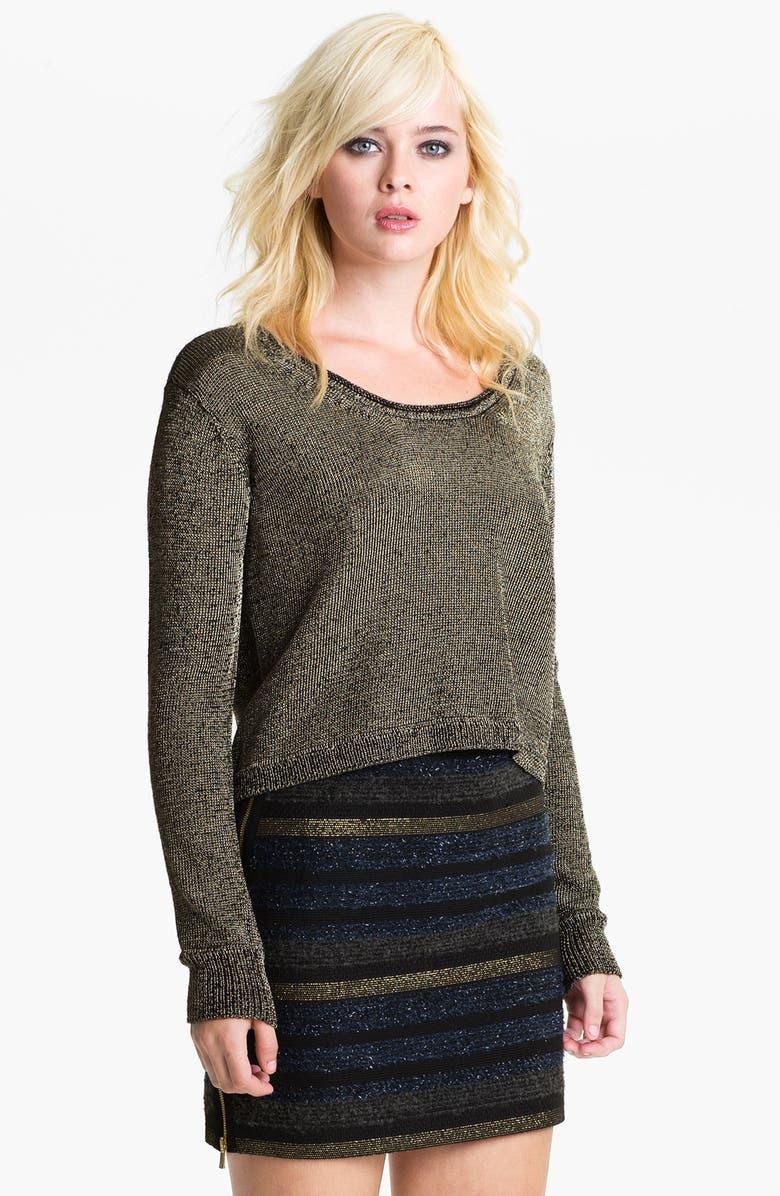REBECCA MINKOFF 'Ellen' Metallic Sweater, Main, color, 710