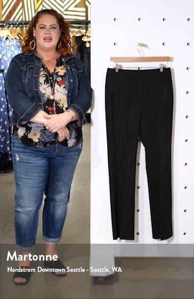 Pinstripe Flare Leg Trousers, sales video thumbnail