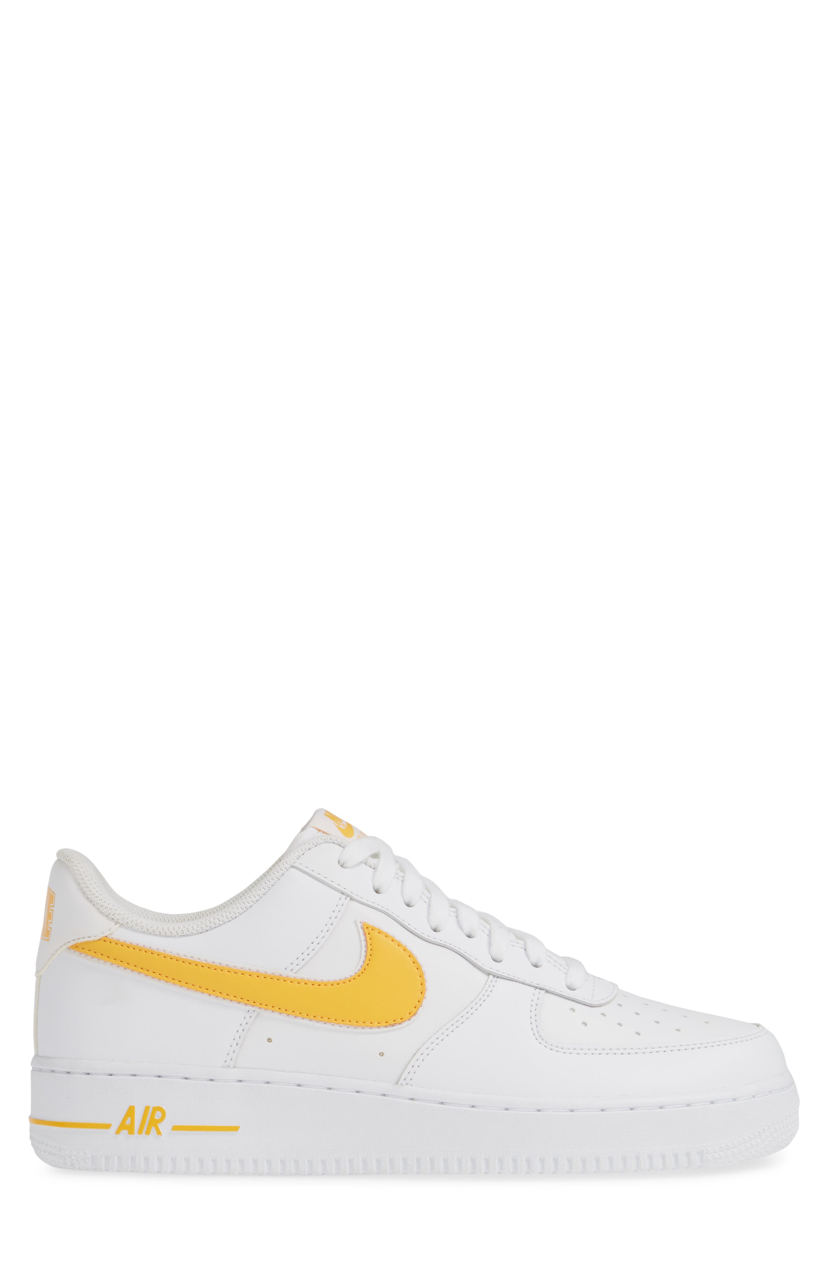 ,                             Air Force 1 '07 3 Sneaker,                             Alternate thumbnail 3, color,                             WHITE/ UNIVERSITY GOLD