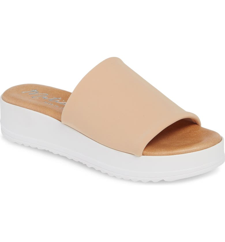 MATISSE Paradise Slide Sandal, Main, color, NATURAL