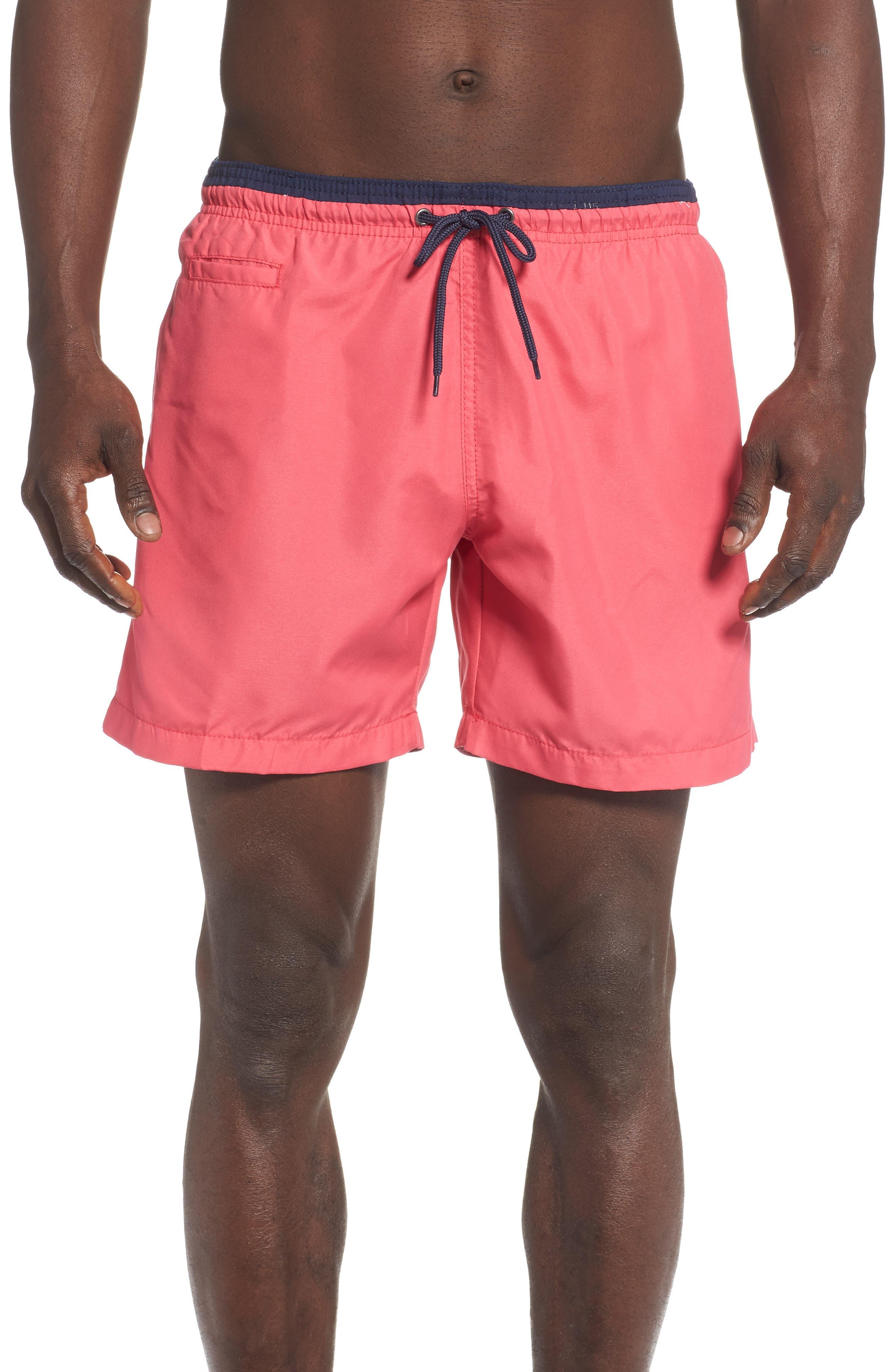 Swim Trunks, Main, color, BRIGHT CORAL/ MARINE