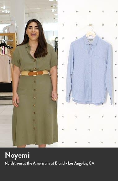 Wonyeer Slim Fit Button-Up Piqué Shirt, sales video thumbnail