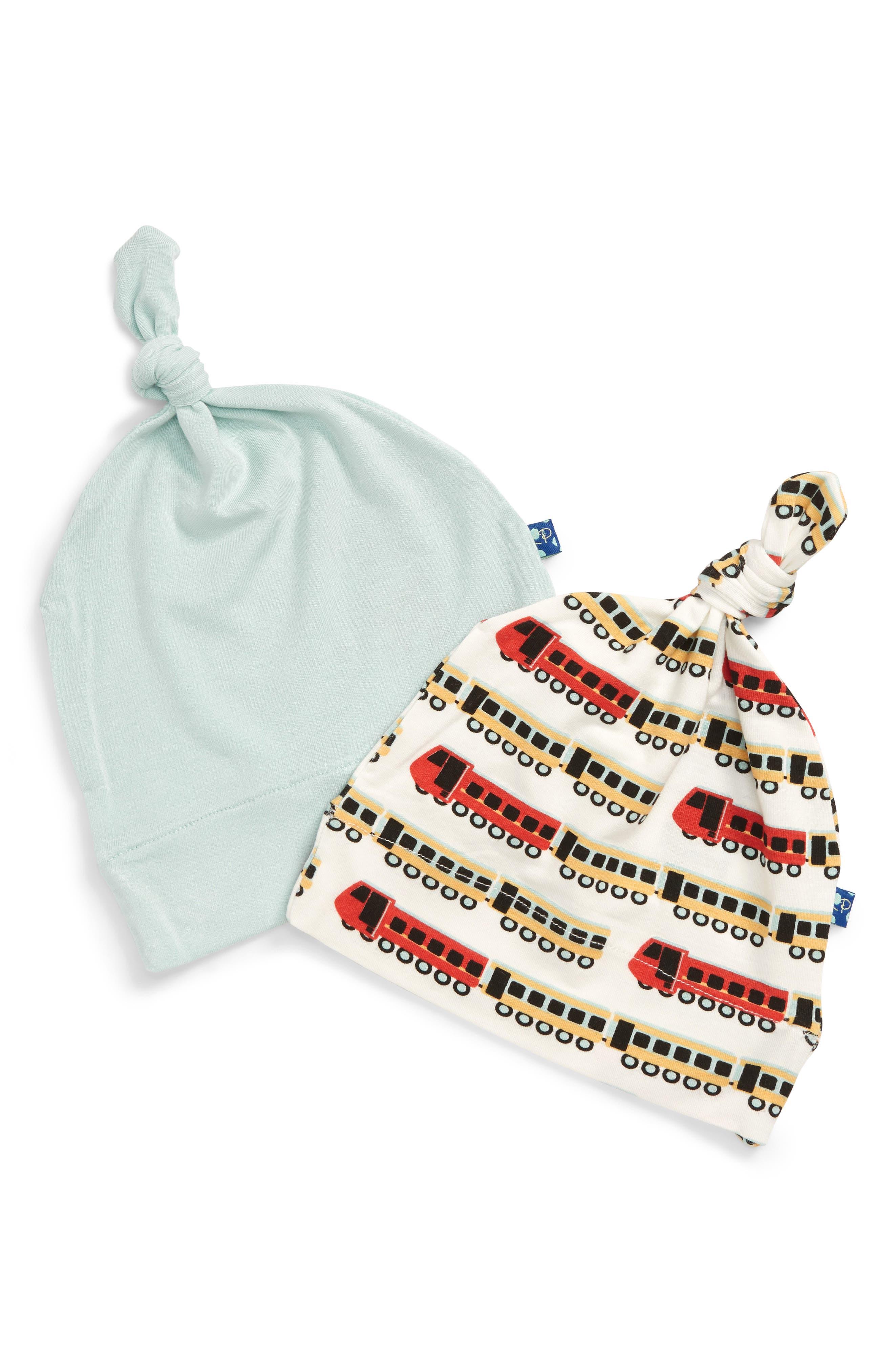 Infant Boys Kickee Pants Set Of 2 Knot Hats
