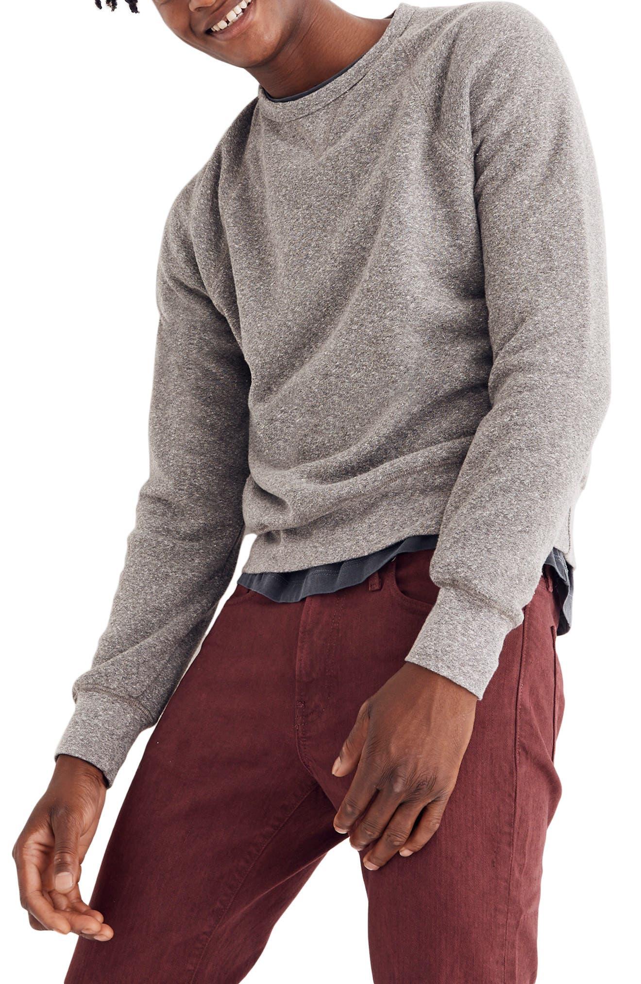 ,                             Crewneck Sweatshirt,                             Main thumbnail 1, color,                             GREY