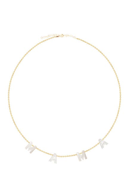 Image of Gabi Rielle 14K Gold Plated Mother of Pearl Mama Necklace