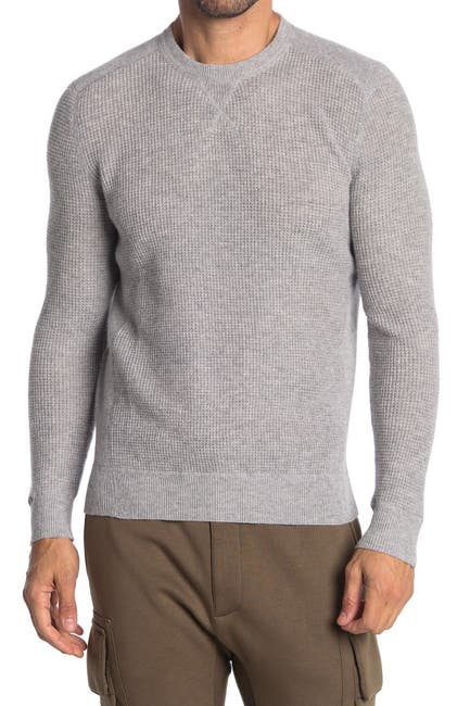 Image of Stewart of Scotland Cashmere Waffle Knit Crew Neck Sweater