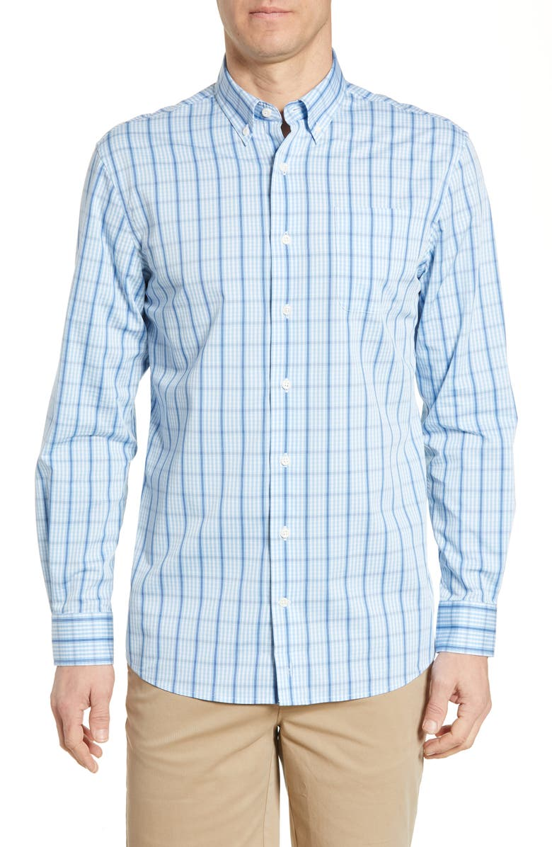 JOHNNIE-O Billie Classic Fit Check Shirt, Main, color, 498