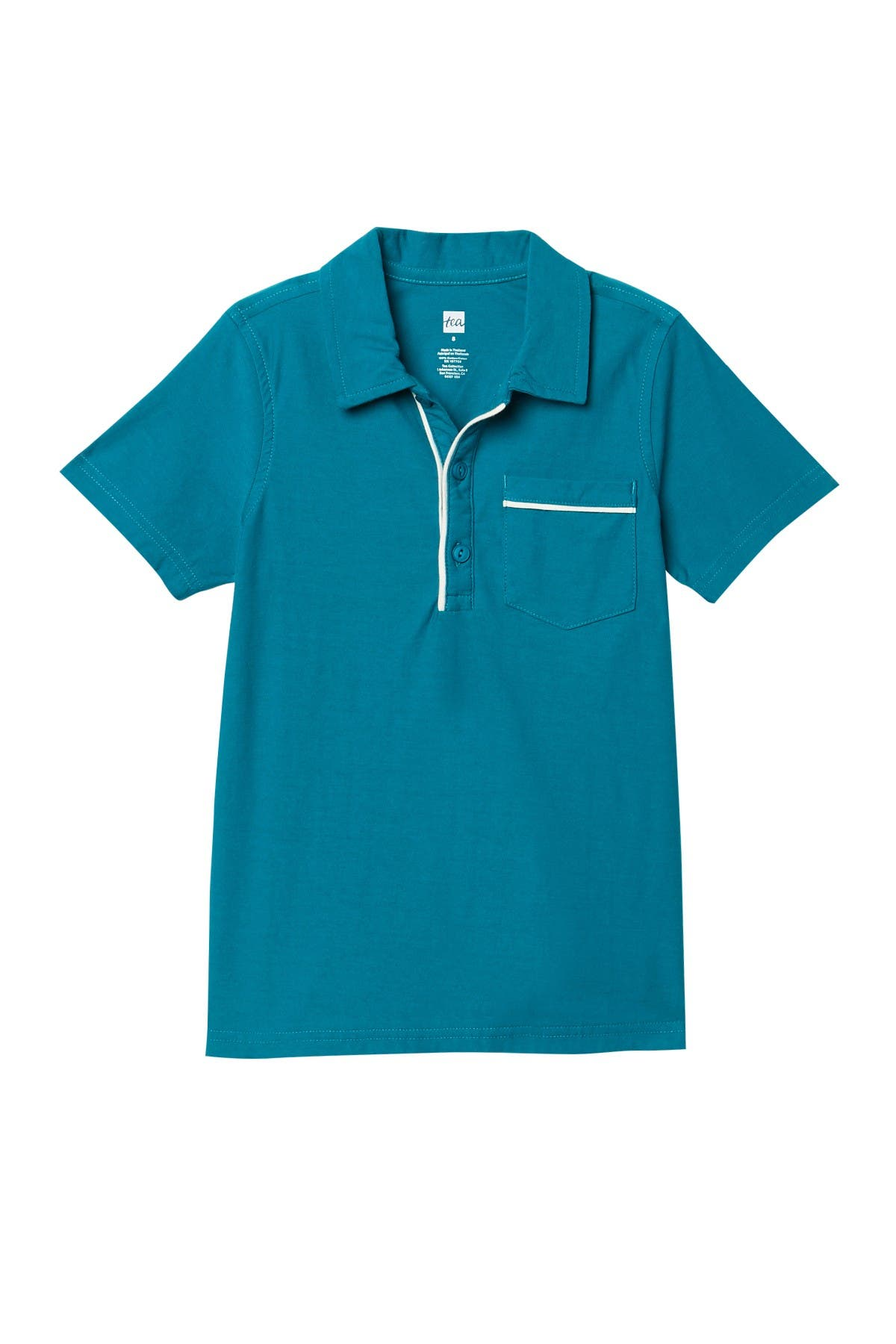 Image of Tea Collection Piped Polo Tee