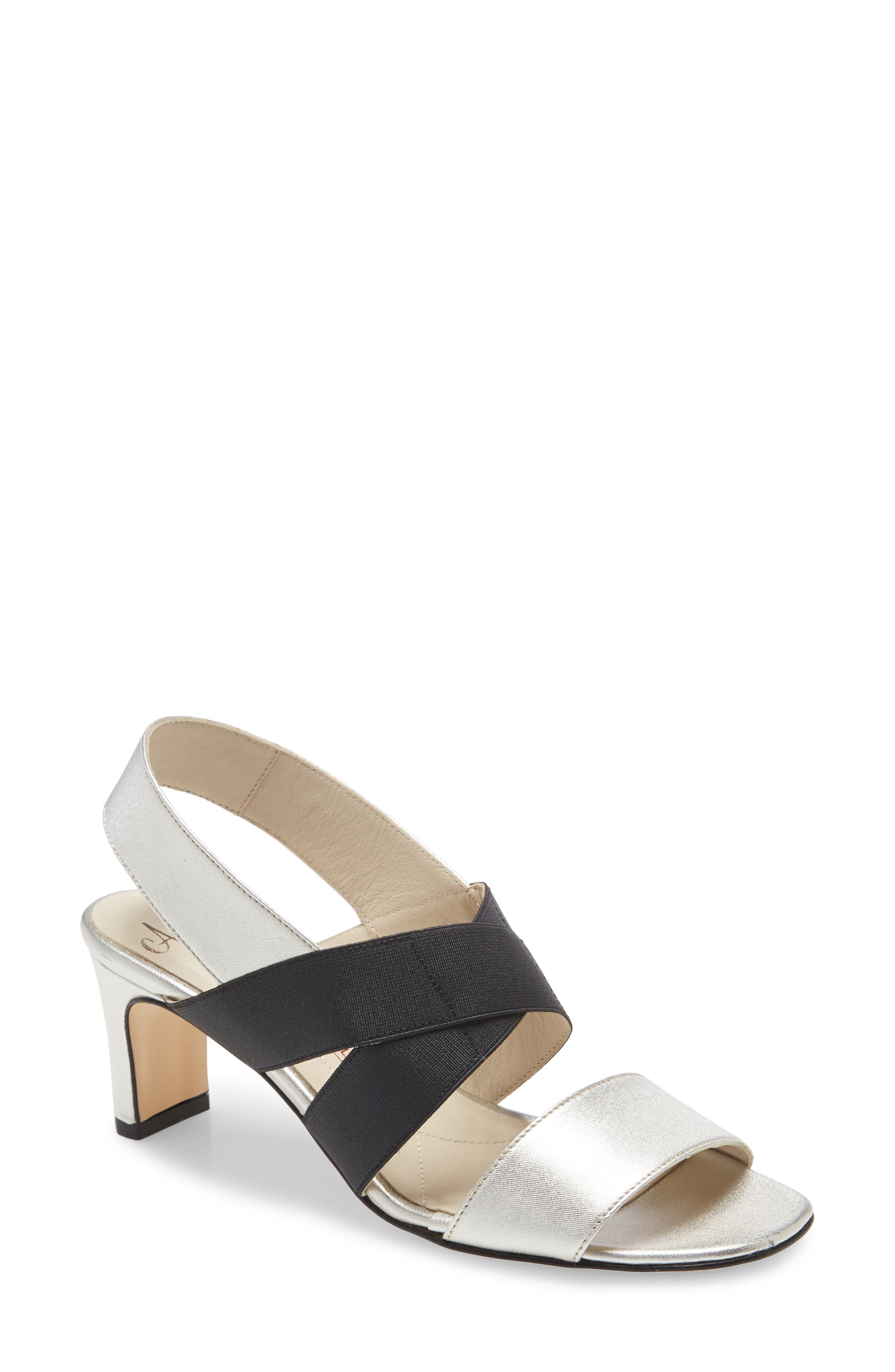 A balance of elegant and sporty, this slingback sandal wraps the foot with elastic straps and is set on a slender, rectangular heel. Style Name: Amalfi By Rangoni Etty Sandal (Women). Style Number: 5945326. Available in stores.