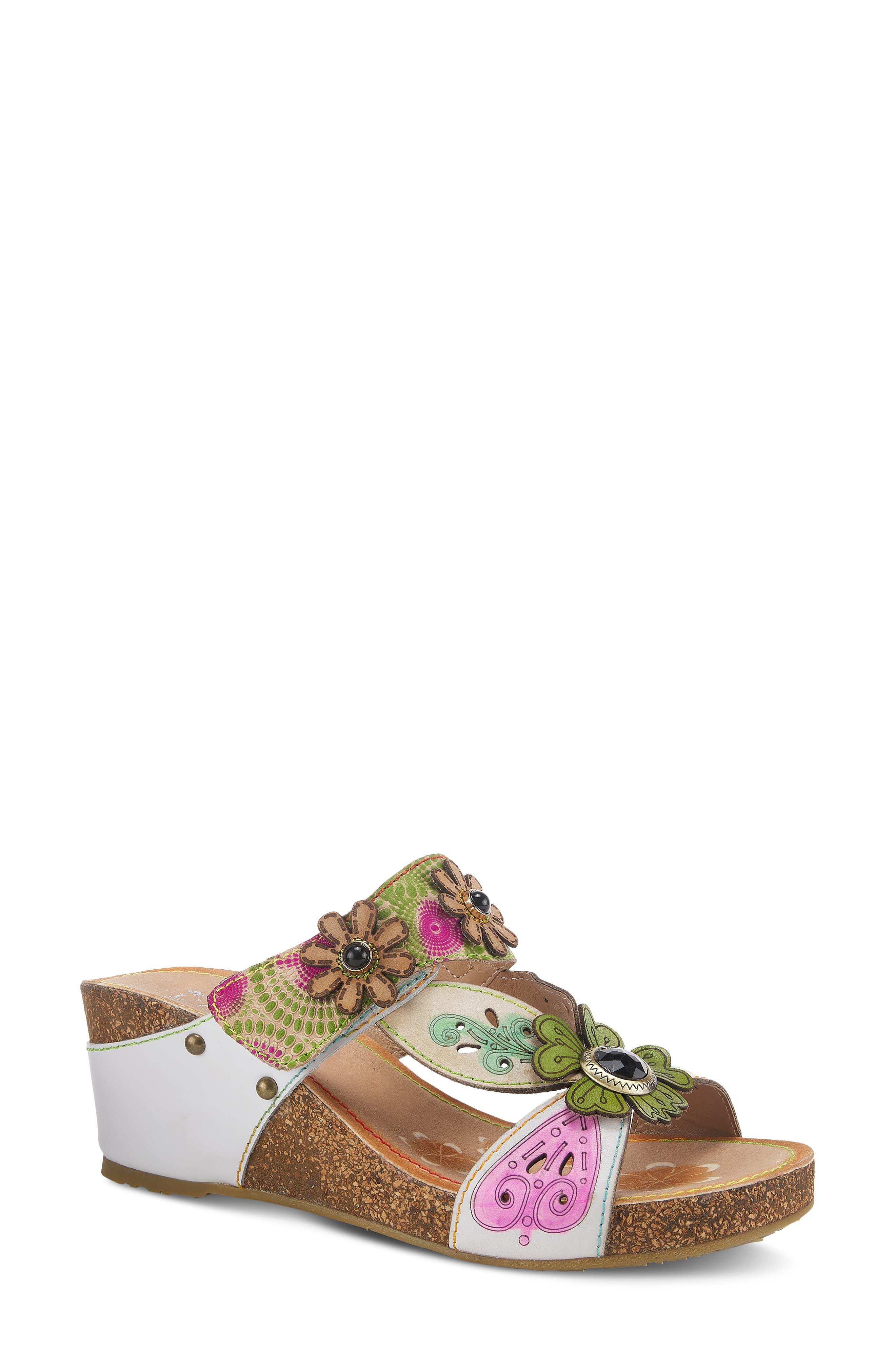 Adelanda Wedge Slide Sandal