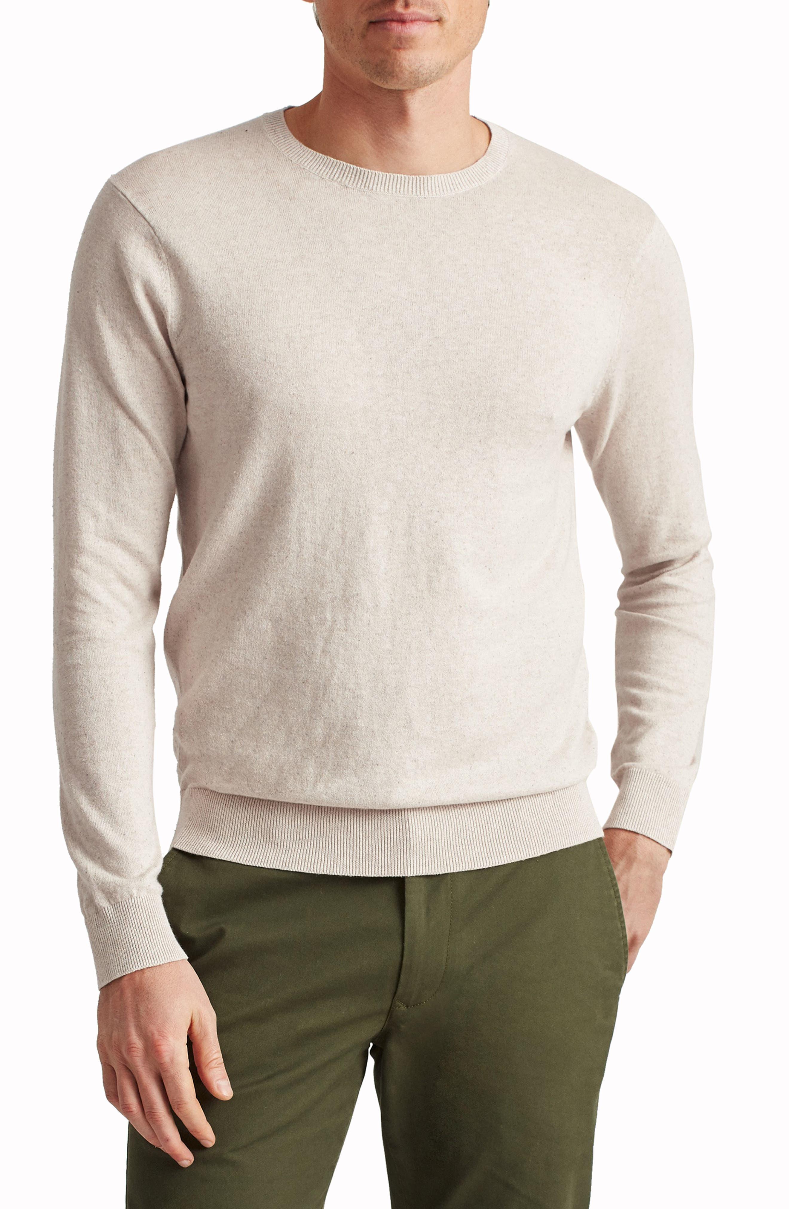 Cotton Blend Crewneck Sweater
