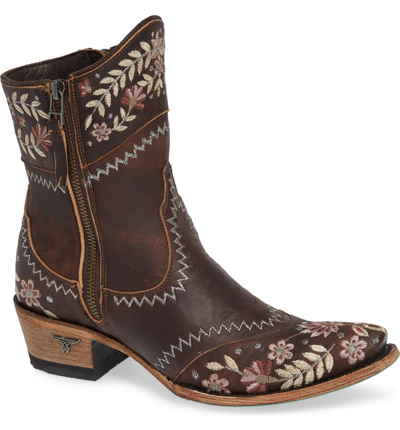 LANE BOOTS Landrun Gardens Western Boot, Main, color, BROWN LEATHER