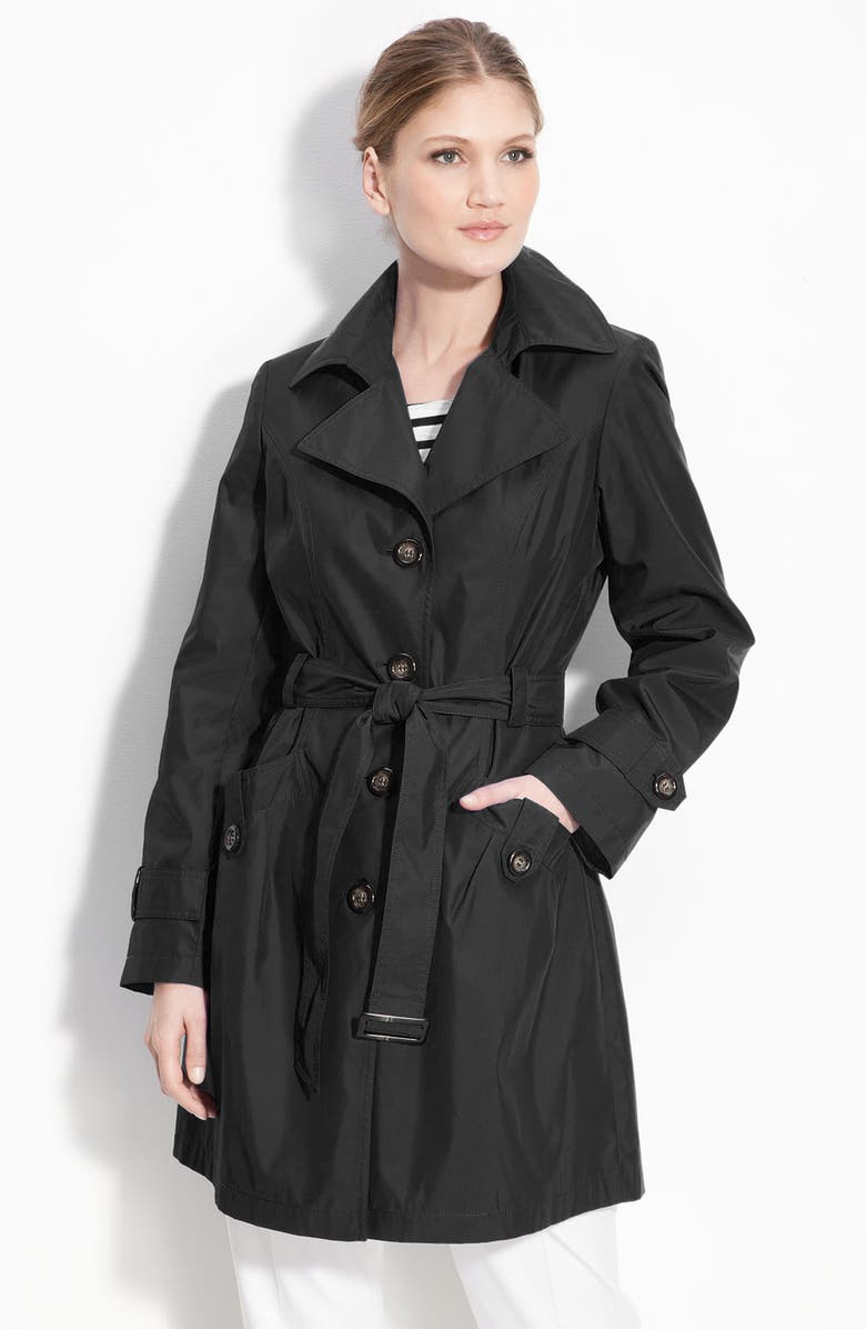 GALLERY Single Breasted 'Memory' Trench Coat, Main, color, 001