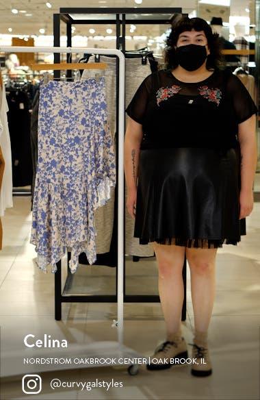 Floral Asymmetric Skirt, sales video thumbnail