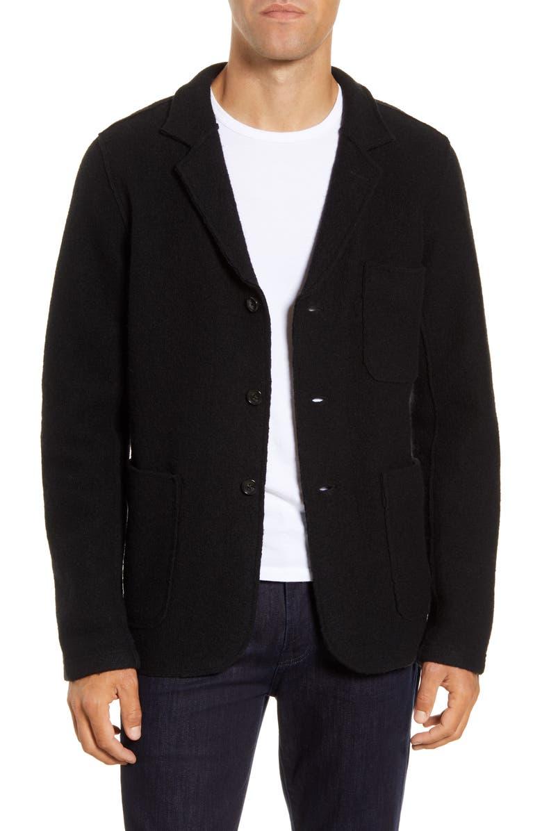 BLDWN Jude Slim Fit Knit Wool Sport Coat, Main, color, 001