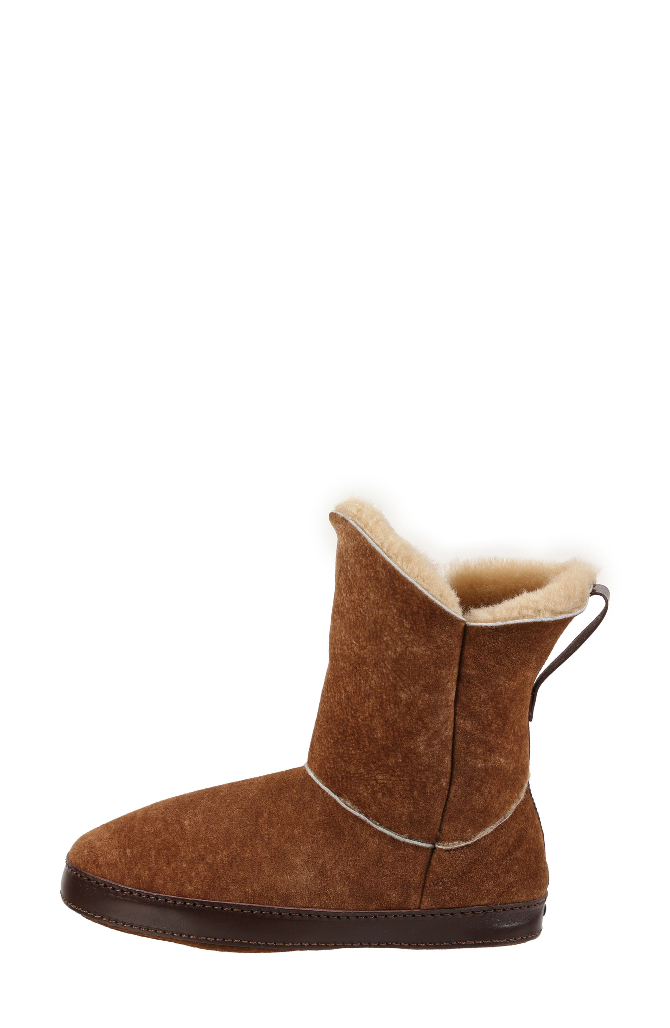 ,                             Gemma Genuine Shearling Slipper Bootie,                             Alternate thumbnail 2, color,                             STONE WASHED COGNAC