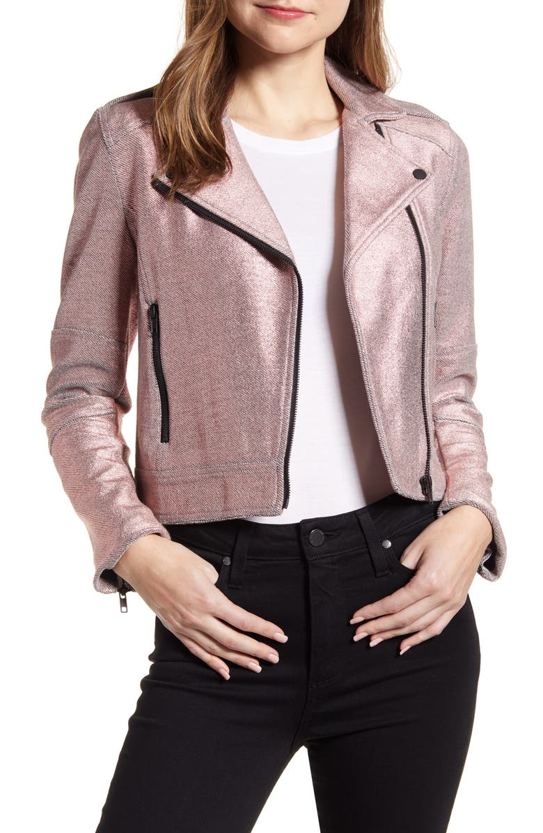 CUPCAKES AND CASHMERE Knit Moto Jacket, Main, color, 680