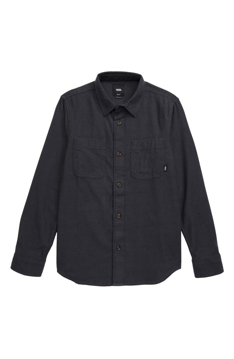 VANS Banfield III Plaid Flannel Shirt, Main, color, ASPHALT