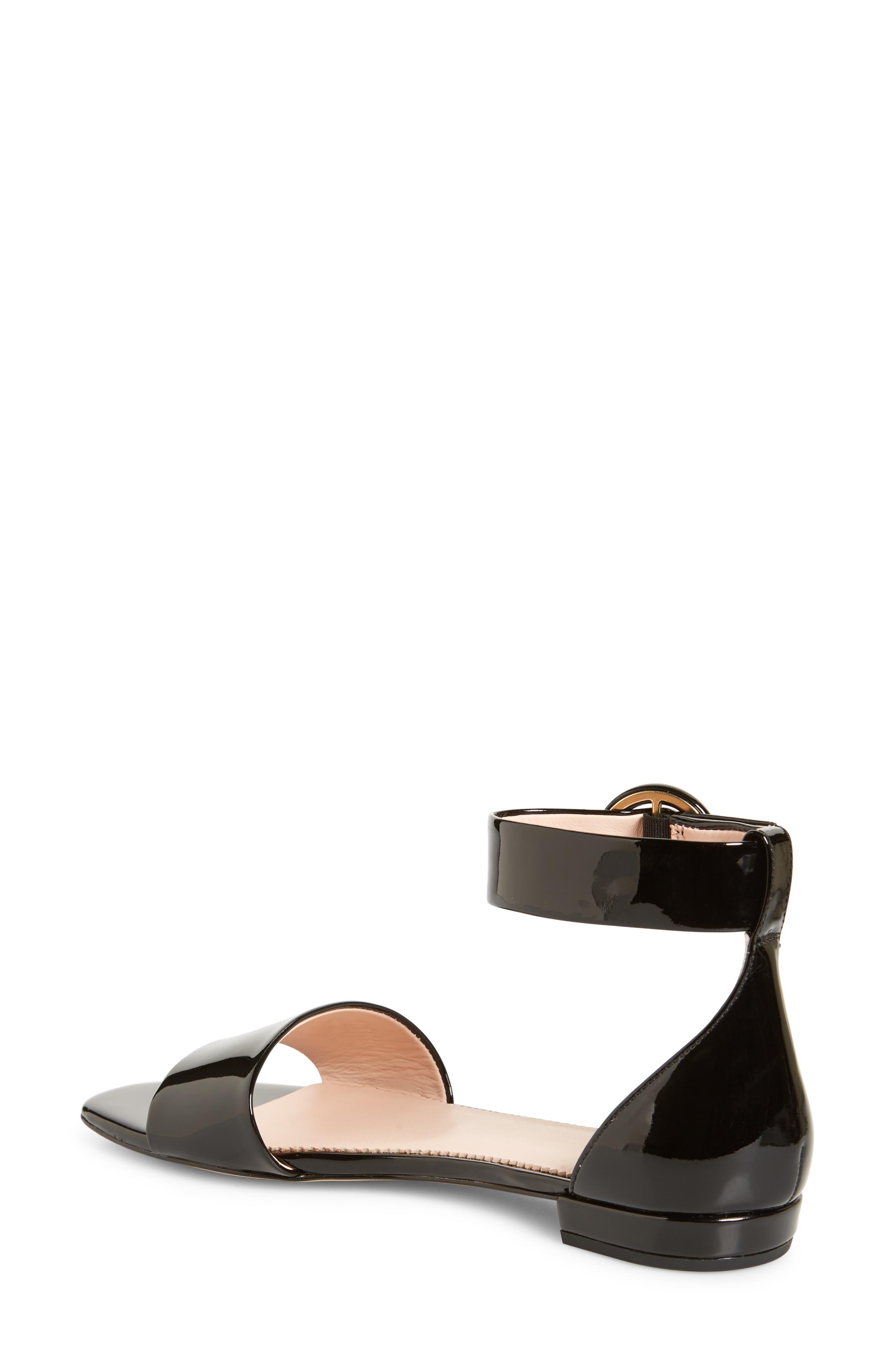 ,                             Ankle Strap Flat Sandal,                             Alternate thumbnail 2, color,                             001