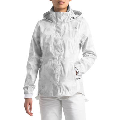 The North Face Resolve Ii Hooded Waterproof/windproof Parka, White