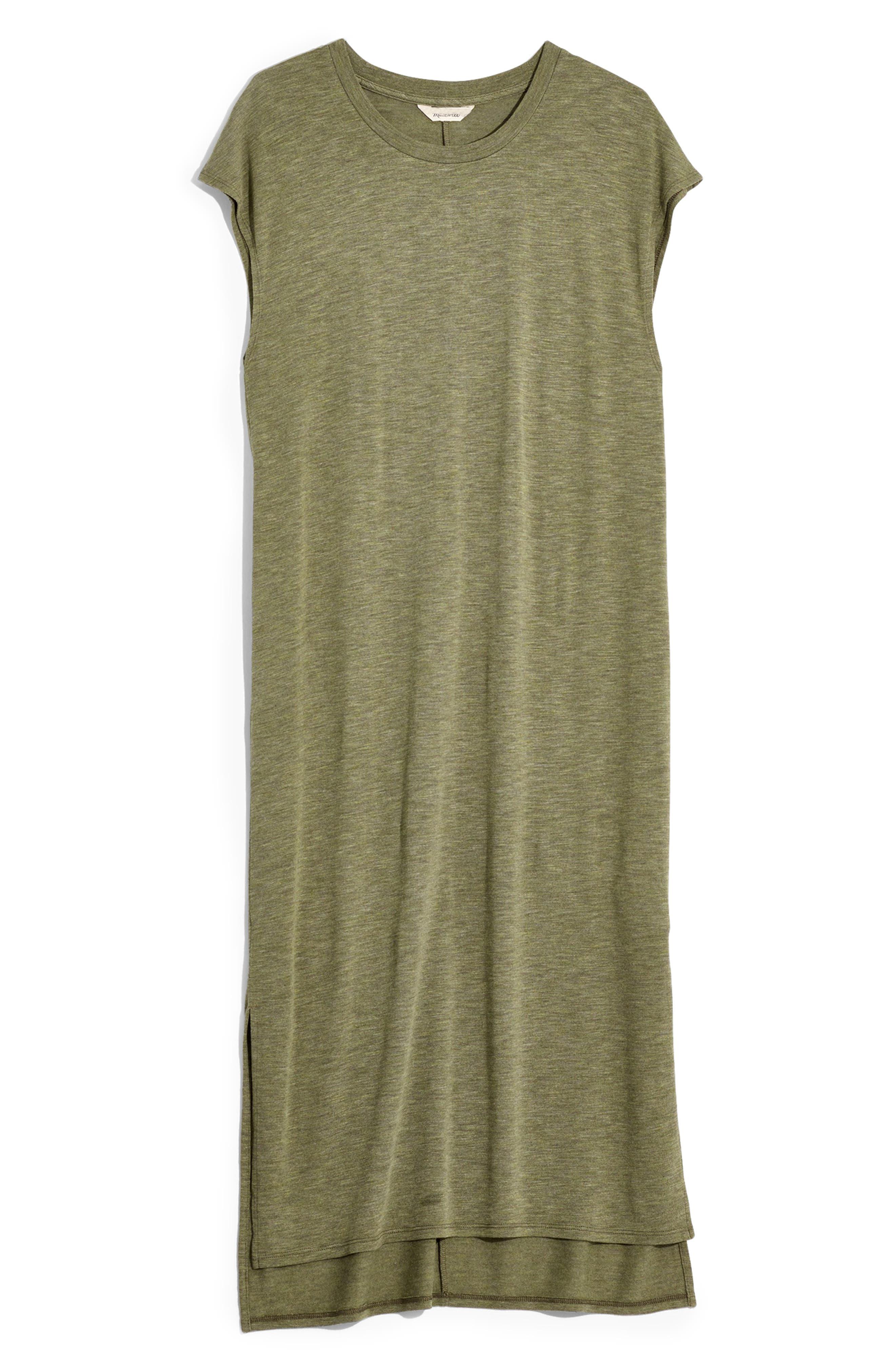 Madewell Muscle Midi Dress, Green
