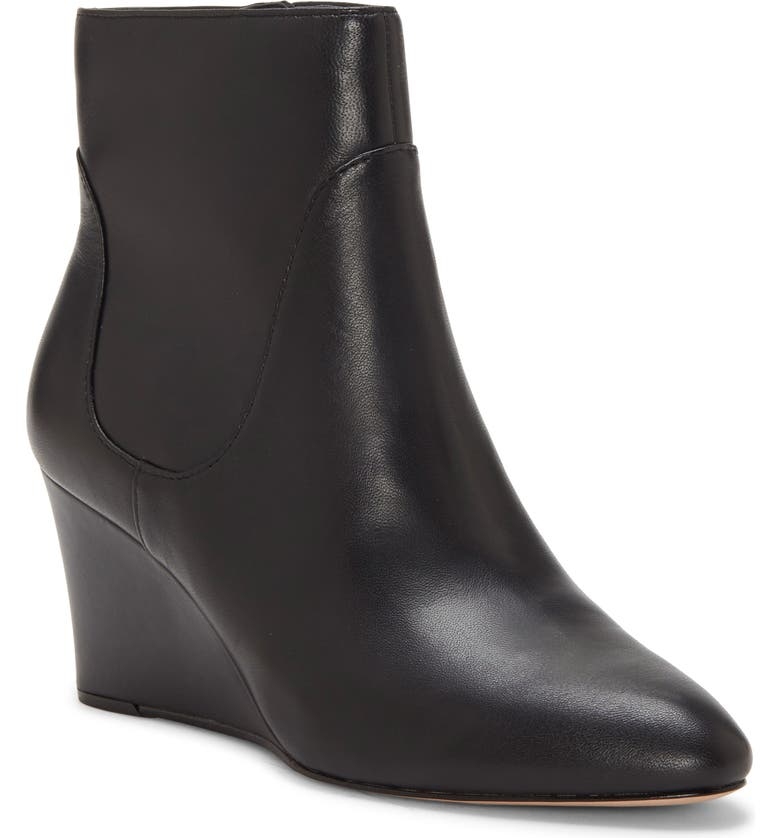 ENZO ANGIOLINI Cristanta Wedge Bootie, Main, color, BLACK LEATHER