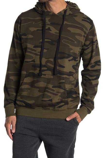 Image of Burnside Camo Print Pullover Hoodie