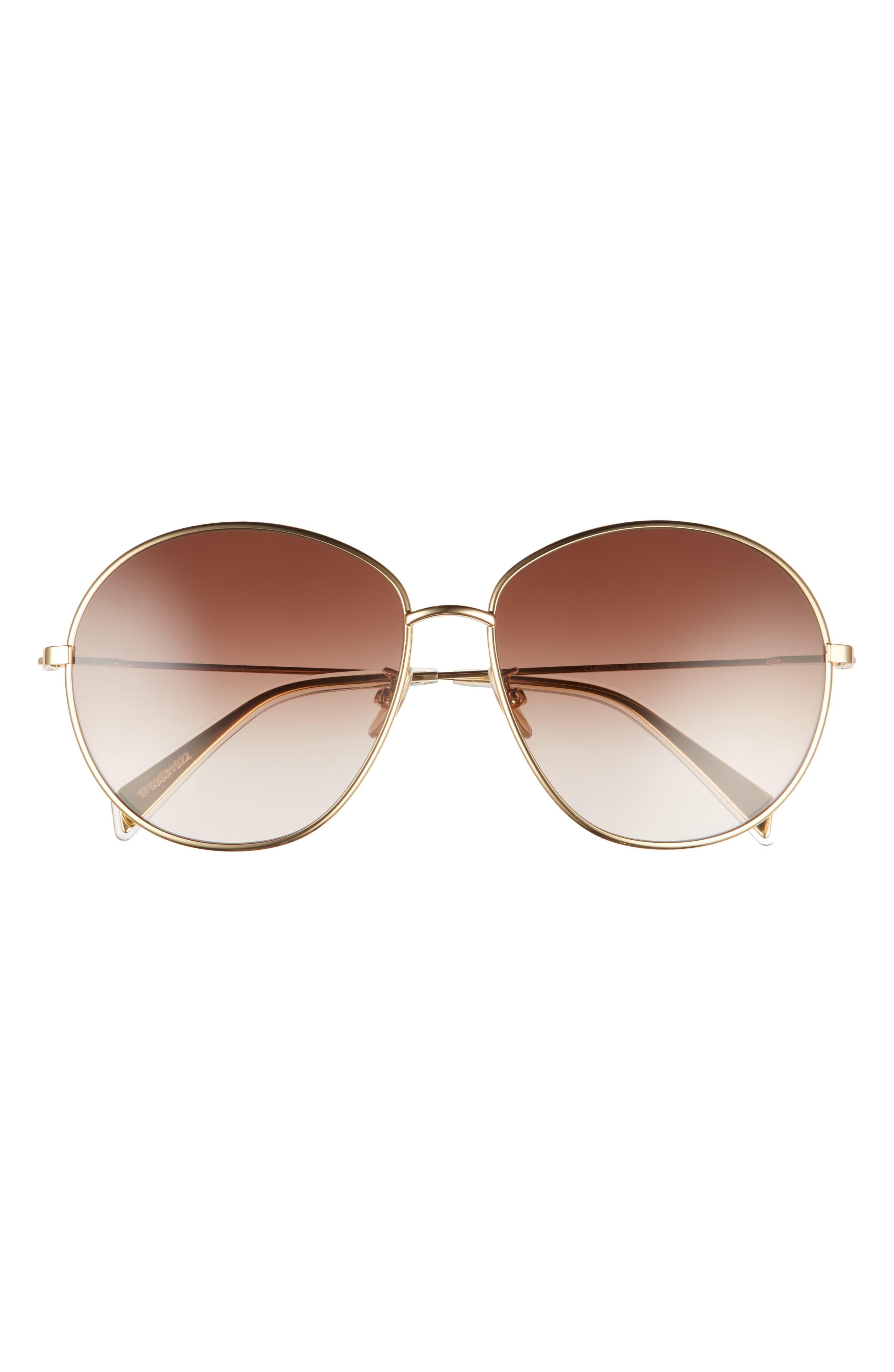 61mm Gradient Round Sunglasses