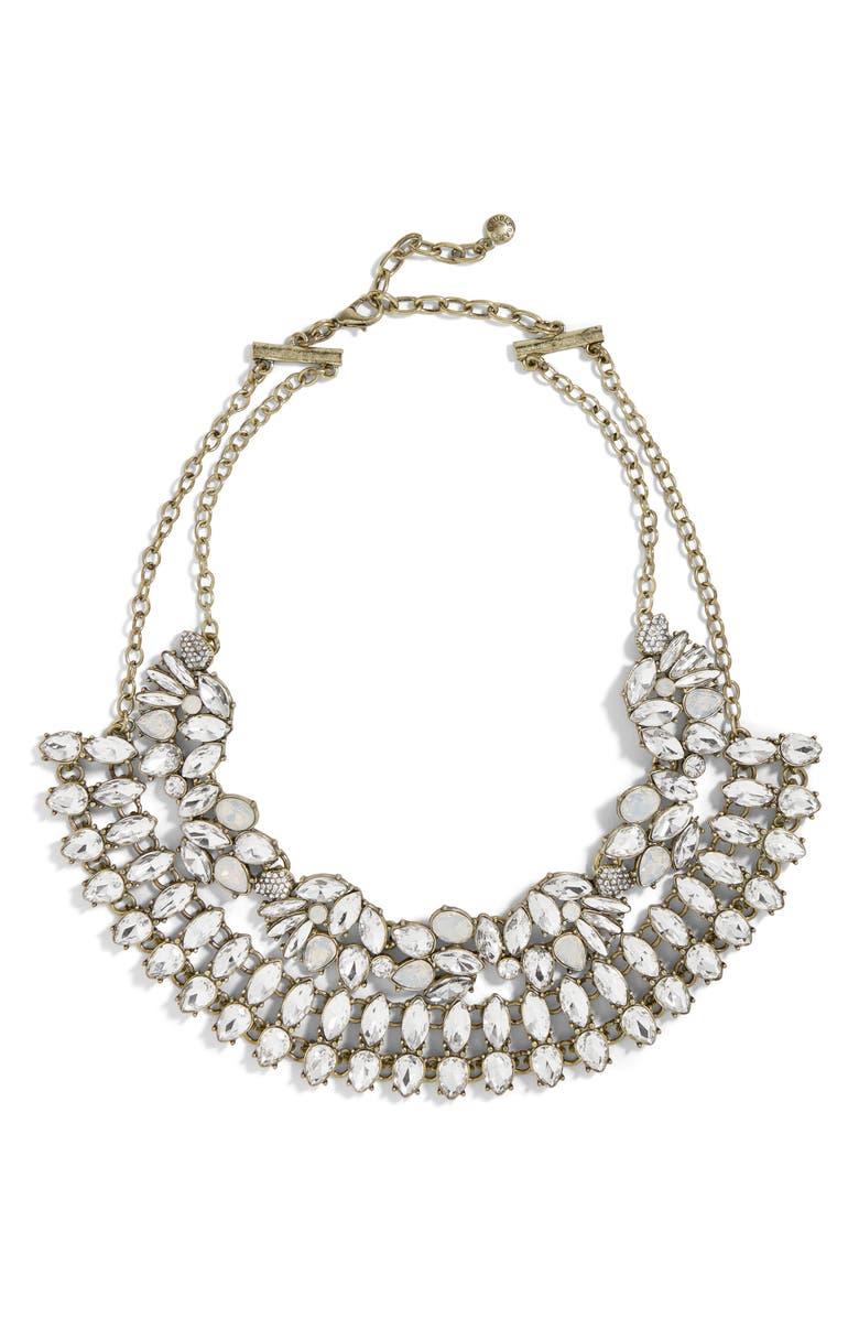 BAUBLEBAR Evangeline Crystal Statement Necklace, Main, color, 040