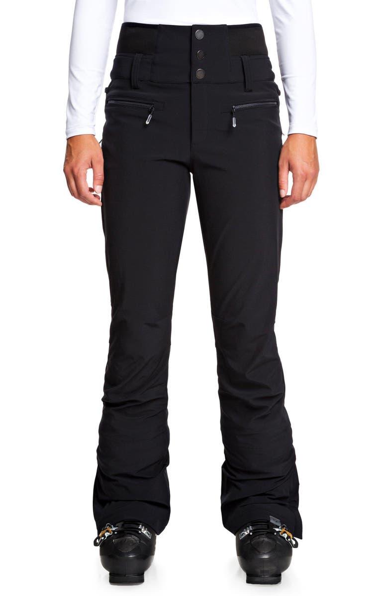 ROXY Rising High Snow Pants, Main, color, TRUE BLACK