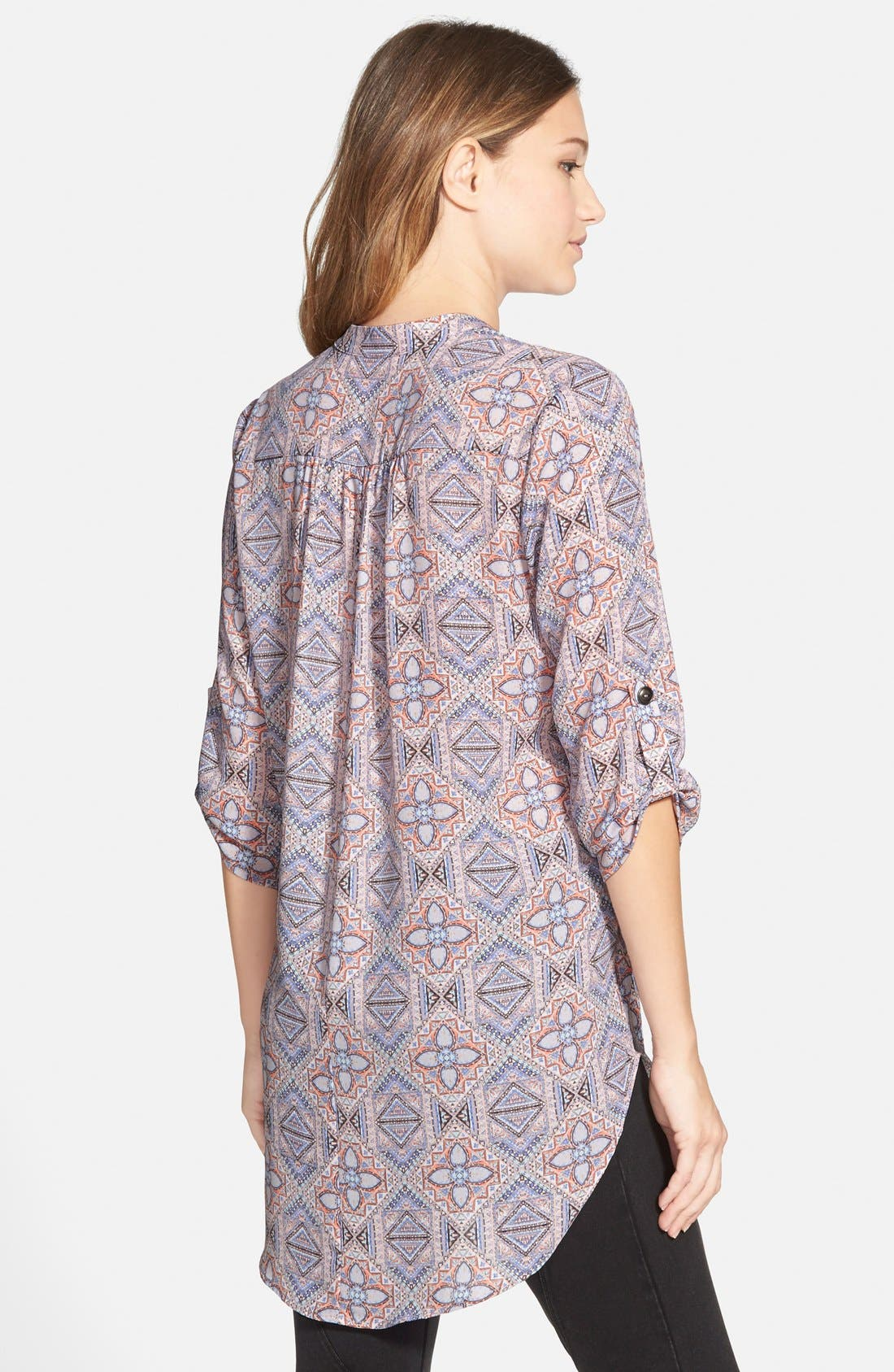 ,                             Perfect Roll Tab Sleeve Tunic,                             Alternate thumbnail 359, color,                             651