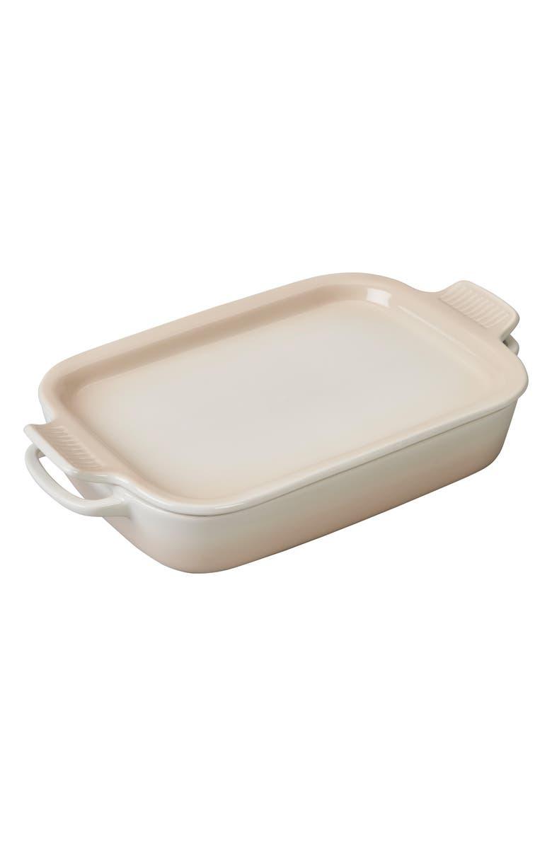 LE CREUSET 3 1/2 Quart Stoneware Casserole & Platter Lid, Main, color, 900