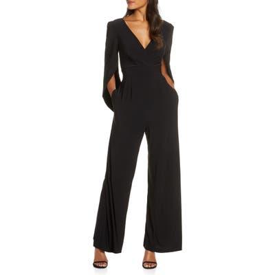 Eliza J Cape Sleeve Jumpsuit, Black