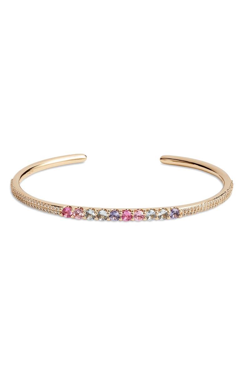 NADRI Bloom Open Cuff Bracelet, Main, color, GOLD